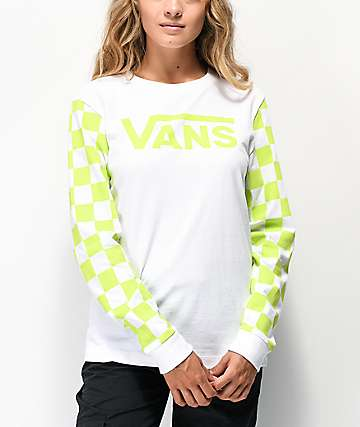 Vans Big Bold Sharp Green & White Long Sleeve T-Shirt