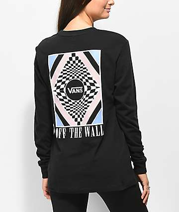 Vans Blotter Black Long Sleeve T-Shirt