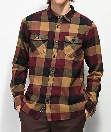 Vans Box Brown & Burgundy Flannel Shirt