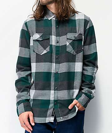 Vans Box Trekking Green & Grey Flannel Shirt