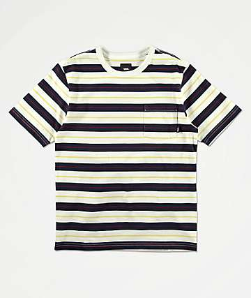 Vans Boys Harmon Blue & White Striped Knit T-Shirt