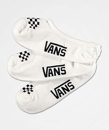 Vans Canoodle White & Black 3 Pack No Show Socks