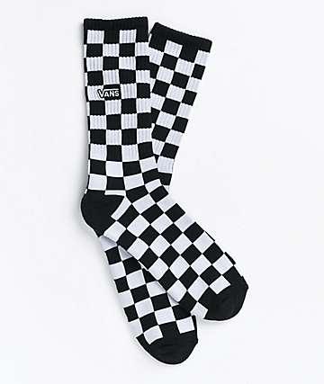 Vans Checker calcetines en blanco y negro