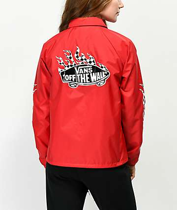 Vans Checkerboard Flame Red Coaches Jacket