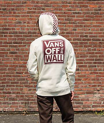 Vans Checkered Stripe Off White Hoodie