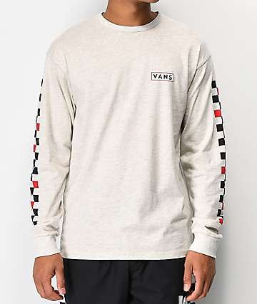 Vans Checkmate Ash Grey Long Sleeve T-Shirt