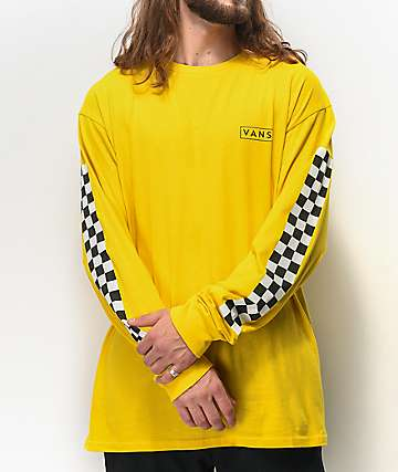 Vans Checkmate Sulphur Long Sleeve T-Shirt