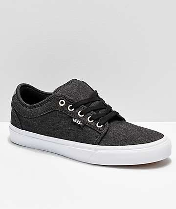Vans Chukka Low Black Pewter Denim Skate Shoes