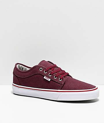 Vans Chukka Low Cork Wine & White Skate Shoes