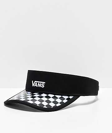 Vans Clear Cut Black & Checkerboard Visor