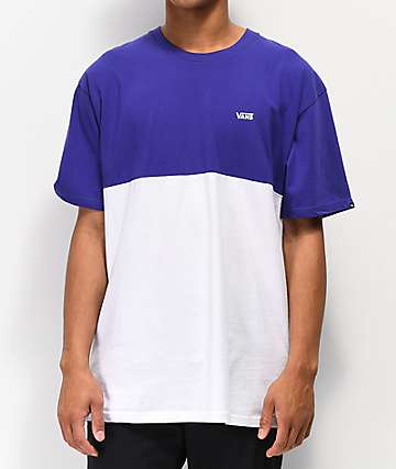 Vans Colorblock Purple & White T-Shirt