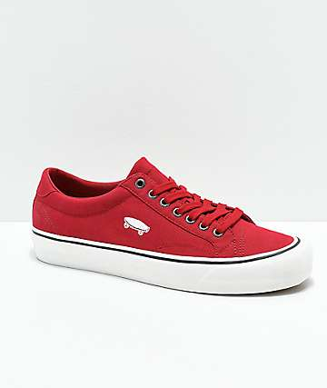 Vans Court Icon Red & Marshmallow White Skate Shoes