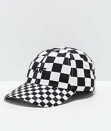 Vans Courtside Checkerboard Black & White Strapback Hat