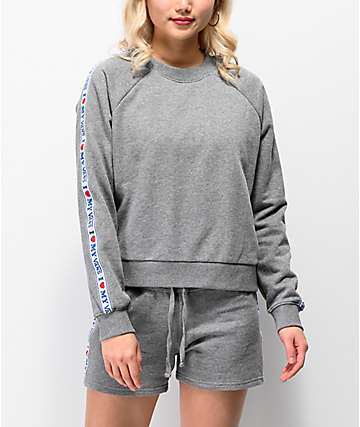 Vans DNA Taping Grey Crew Neck Sweatshirt