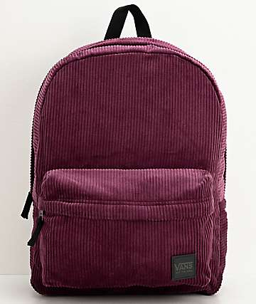 Vans Deana III Prune Corduroy Backpack