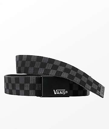 Vans Deppster Black & Charcoal Checkered Belt