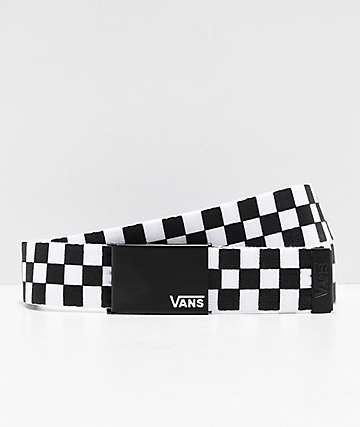 Vans Deppster Black & White Checkered Web Belt