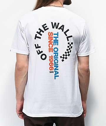 Vans Distorted camiseta blanca