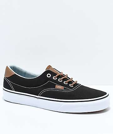 Vans Era 59 C&L Black & Acid Denim Skate Shoes