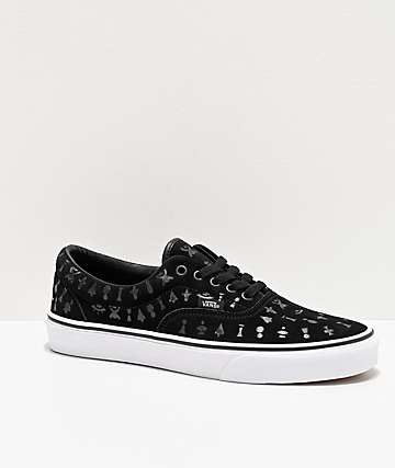 Vans Era Area 66 Black & White Skate Shoes