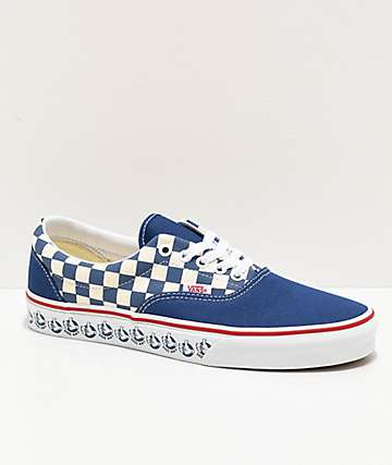 Vans Era BMX Navy & White Checkerboard Skate Shoes