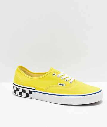 Vans Era Blazing Yellow and Checker Block Skate Shoes