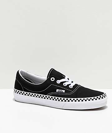 Vans Era Checkerboard Foxing Black Skate Shoes