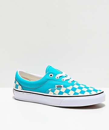 Vans Era Checkerboard Scuba Blue Skate Shoes