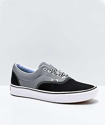 black and gray vans