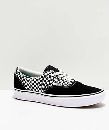 Vans Era ComfyCush Tear Black & White Skate Shoes
