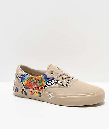Vans Era Desert Embellished Tan Skate Shoes