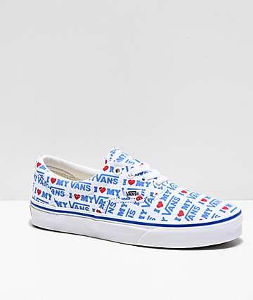 Vans Era I Heart Vans White & Blue Skate Shoes