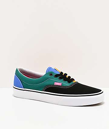 Vans Era Mix Colorblock Yellow & Tidepool Skate Shoes