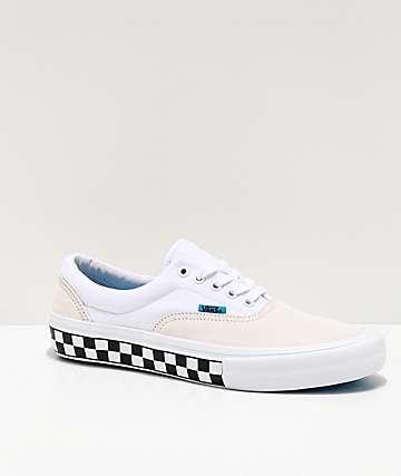 Vans Era Pro zapatos de skate blancos y azules de cuadros
