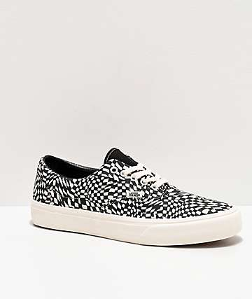 Vans Era SF Warp Check Marshmallow & Black Skate Shoes