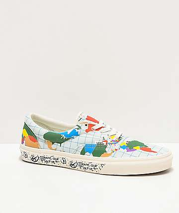 Vans Era Save Our Planet Marshmallow & Multicolor Skate Shoes