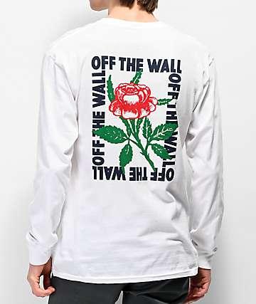 Vans Fluorescent Rose White Long Sleeve T-Shirt