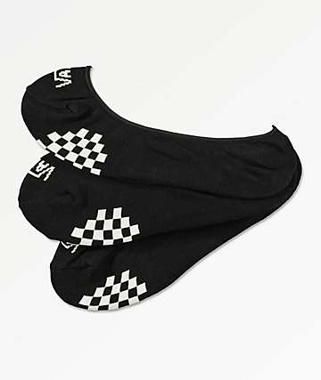 Vans Girly Black 3 Pack No Show Socks