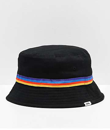 Vans Hankley Black & Rainbow Bucket Hat