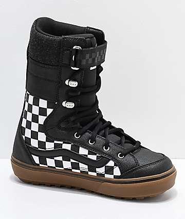 Vans Hi-Standard DX Black & White Checkerboard Snowboard Boots 2019