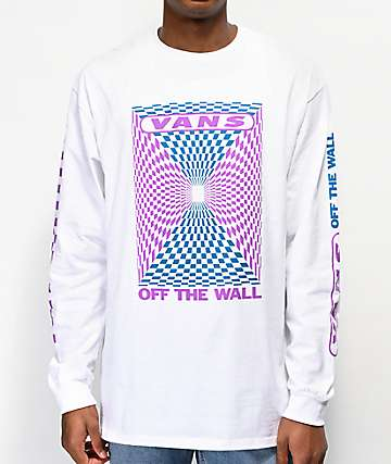 Vans Kaleidoscope Checkerboard White Long Sleeve T-Shirt