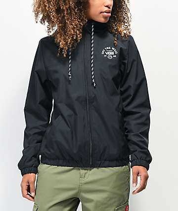 Vans Kastle Black & White Windbreaker Jacket