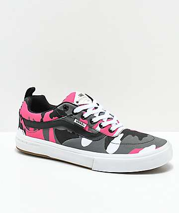 Vans Kyle Walker Pro Black & Magenta Camo Shoes