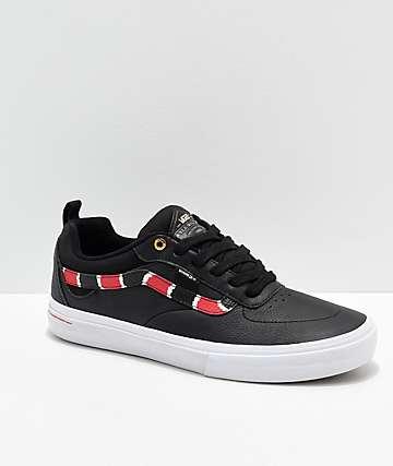 Vans Kyle Walker Pro Coral Snake & Black Leather Skate Shoes