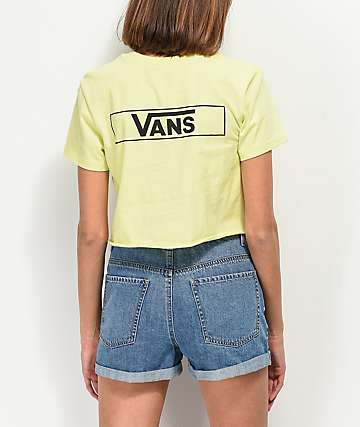 Vans Lime Stage Crew Crop T-Shirt