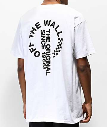 Vans Off The Wall Distort White T-Shirt