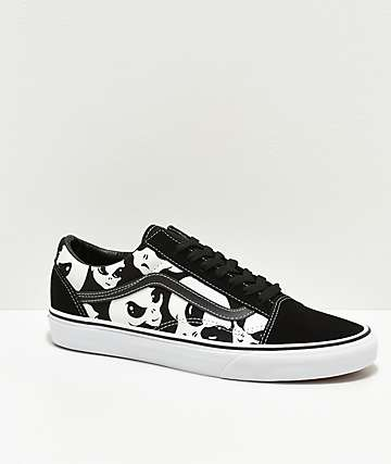 Vans Old Skool Alien Ghost Black & White Skate Shoes