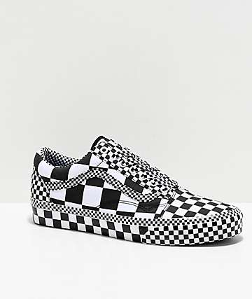 Vans Old Skool All Over Checkerboard Black & White Skate Shoes