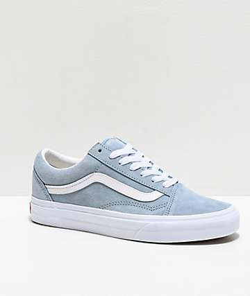Vans Old Skool Blue Fog Suede Skate Shoes