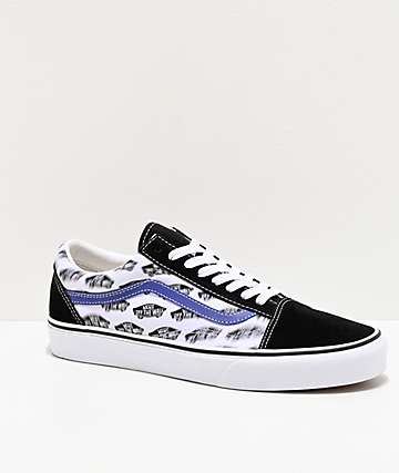 Vans Old Skool Blur Board Black & Blue Skate Shoes